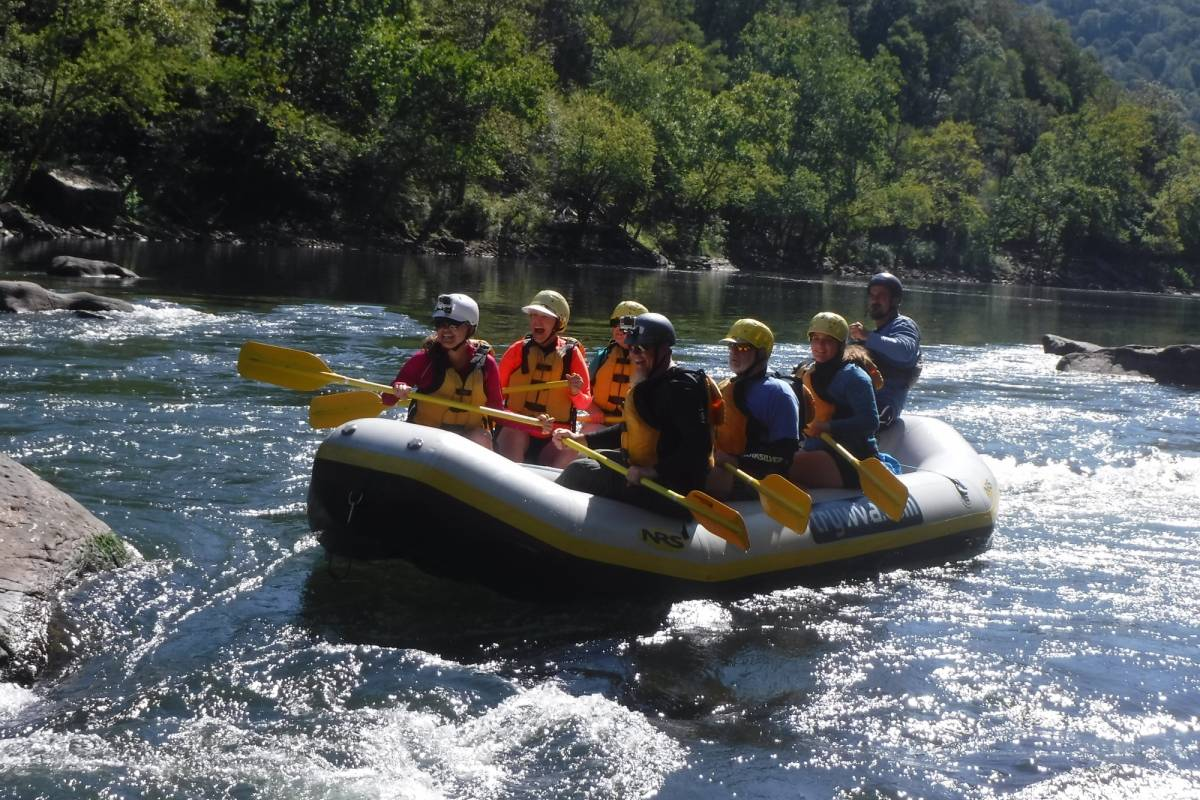 West Virginia Adventures High Adventure Option on Lower New River