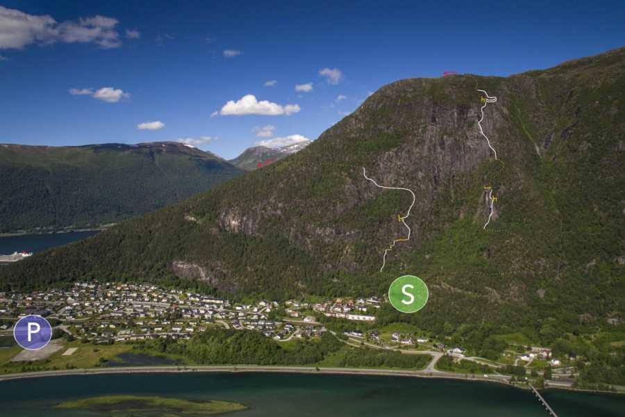 Norsk Tindesenter Romsdalsstigen Introveggen (3-4 timer)