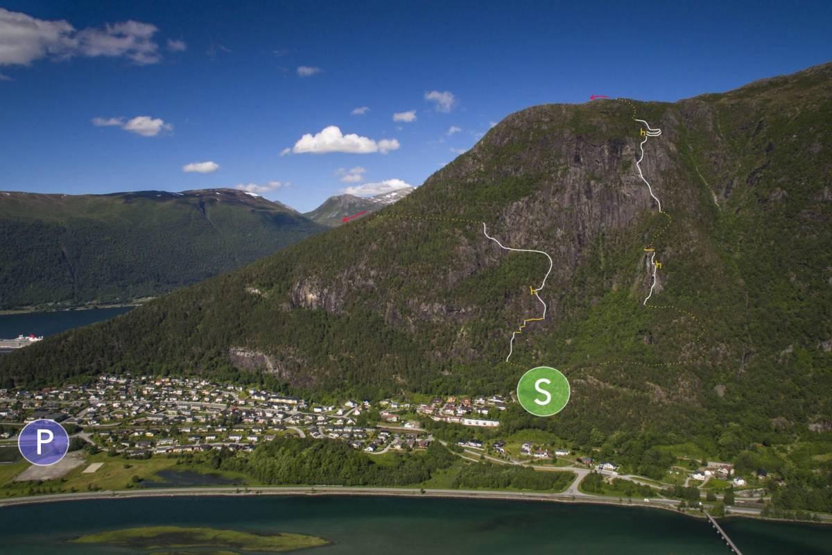 Norsk Tindesenter Romsdalsstigen Via Ferrata -West wall (5-6hrs)