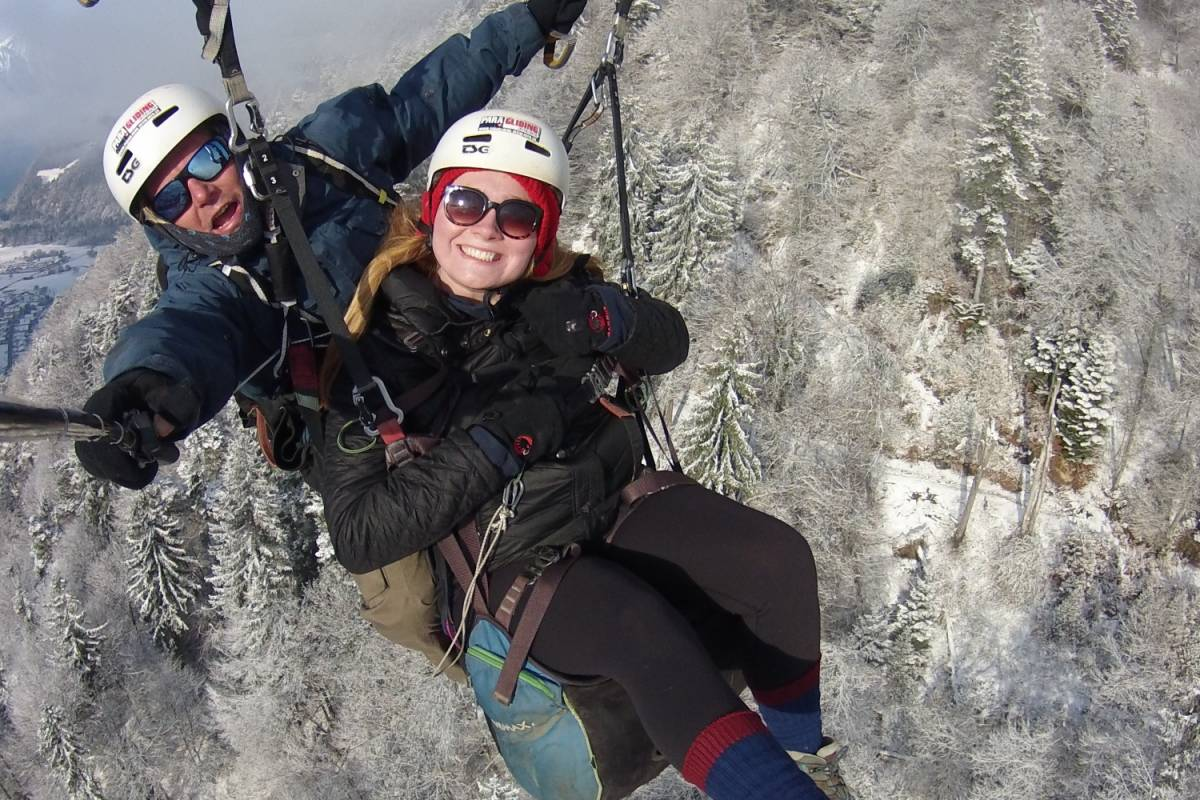 "Paragliding Interlaken GmbH 패러글라이딩 ""Big Blue"" 겨울"