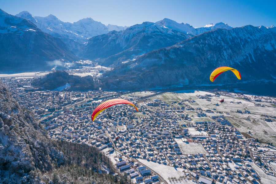 "Paragliding Interlaken GmbH Parapente ""Big Blue"" Invierno"