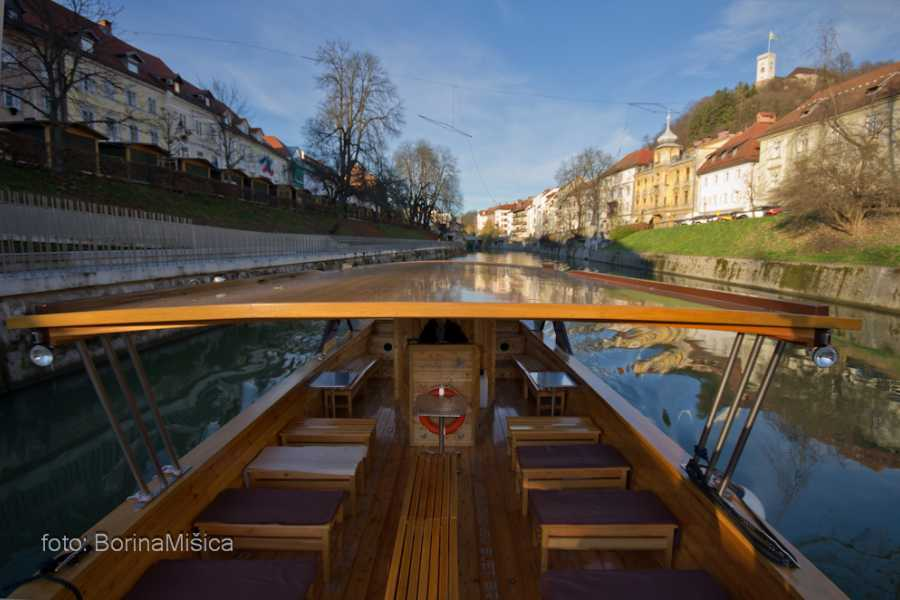 Nature Trips Ljubljana Excursions package - Food&Wine Walk + Boat Cruise