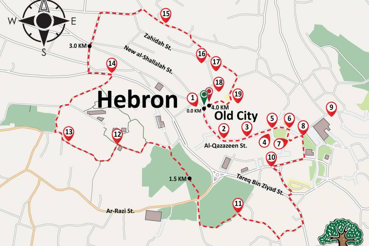 Siraj Center 25 November 2017, ٍSaturday. Hebron City Tour.