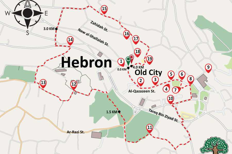 Siraj Center 25 November 2017, ٍSaturday. Hebron City Tour.