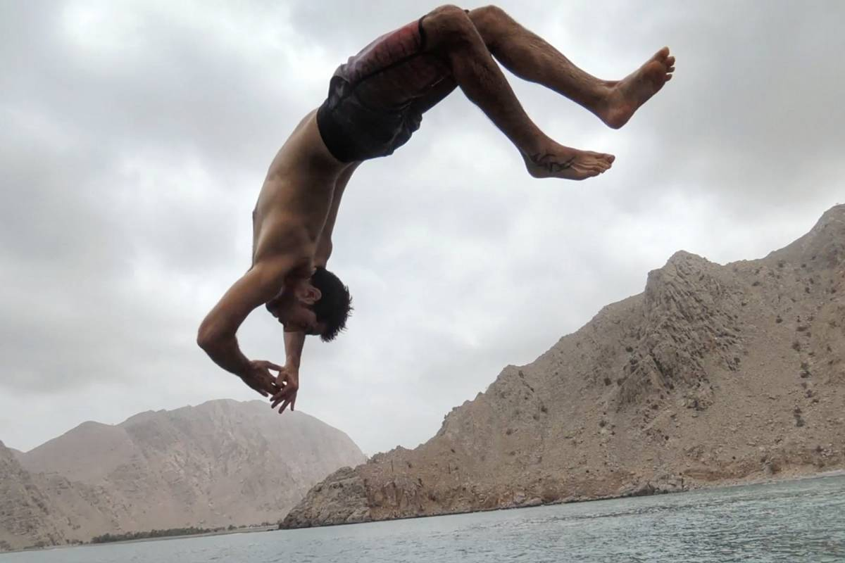 Adventurati Outdoors Deep Water Solo with Hamad - Dibba