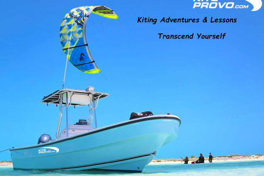 Kite Provo & SUP Provo Kiteboarding Adventure Trips - Boat Led Kite Adventures