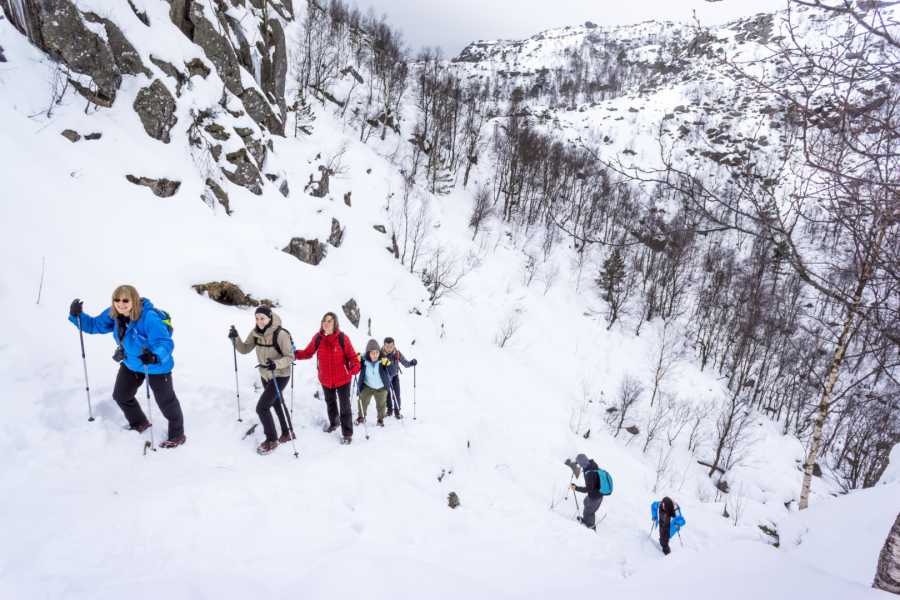 Outdoorlife Norway AS Preikestolen Winter Spring Hike + Lodge Experience