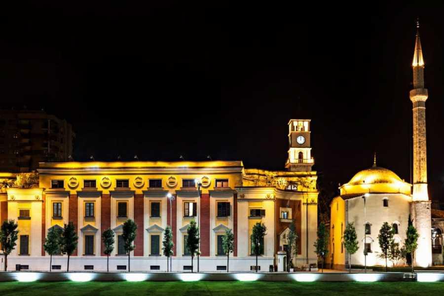 JONA TRAVEL DMC - LUFTHANSA CITY CENTER Tirana at night