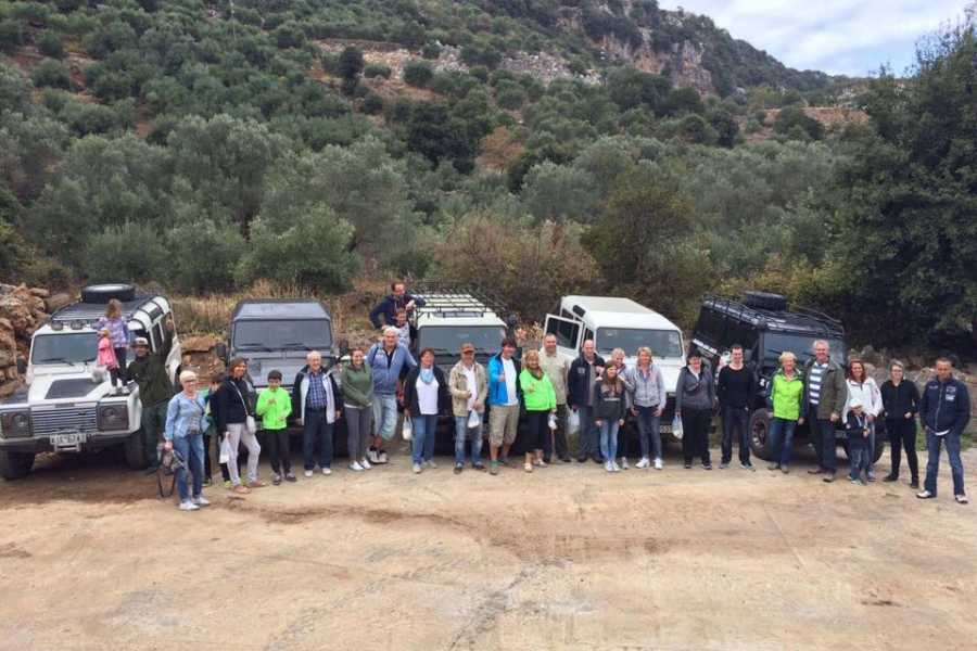 """Destination Platanias Jeep Safari Tur 1-Upptäck Vita bergen """"Lefka Ori"""" - 80 EUR"""