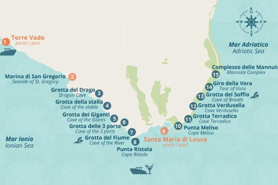 Destination Apulia BOAT TOUR OF THE SEA CAVES