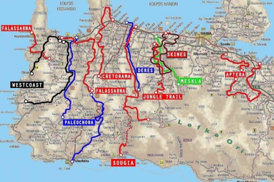Destination Platanias Keskitason kokopäivän yhdistetty pyöräily- ja vaellusretki - Sougia - 68 EUR