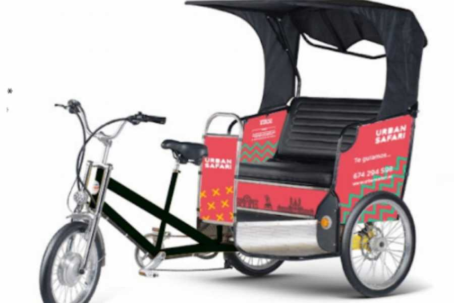 Urban Safari Tours Triciclo: Alquiler publicidad trasera