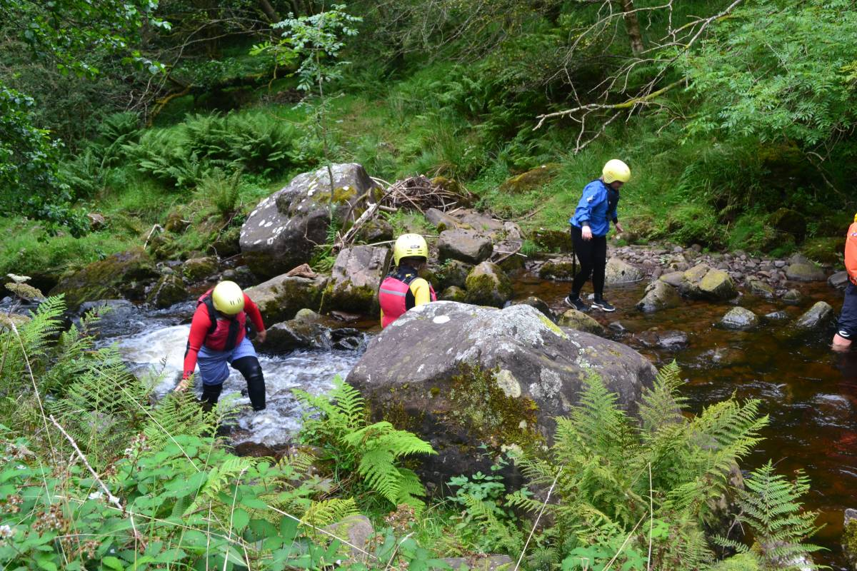 Way2go Adventures Gorge Walking/Scrambling in the Brecon Beacons
