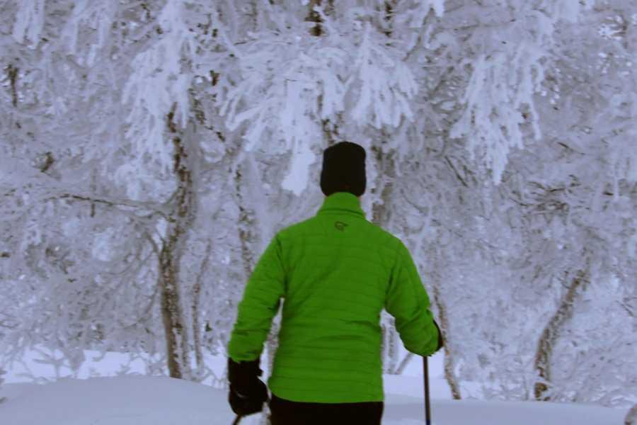 Bulder & Brak Opplevingar AS Snowshoeing to the Paradise Gorge