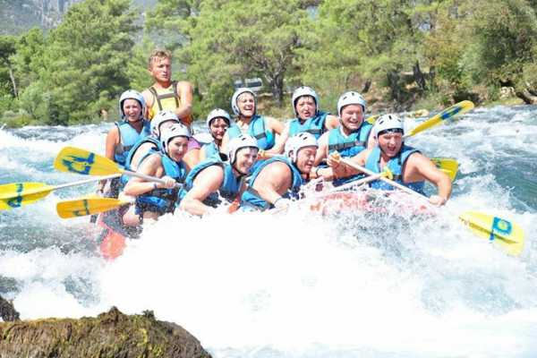 // White Water Rafting from Side