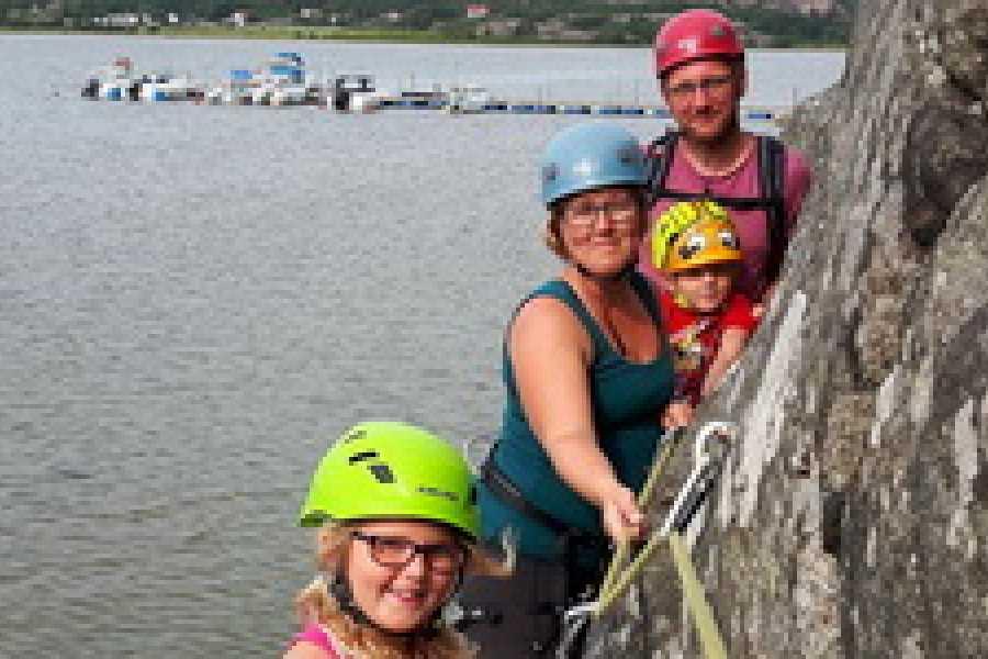 Outdoor West Klättra: Strandsittaren - familjeäventyr