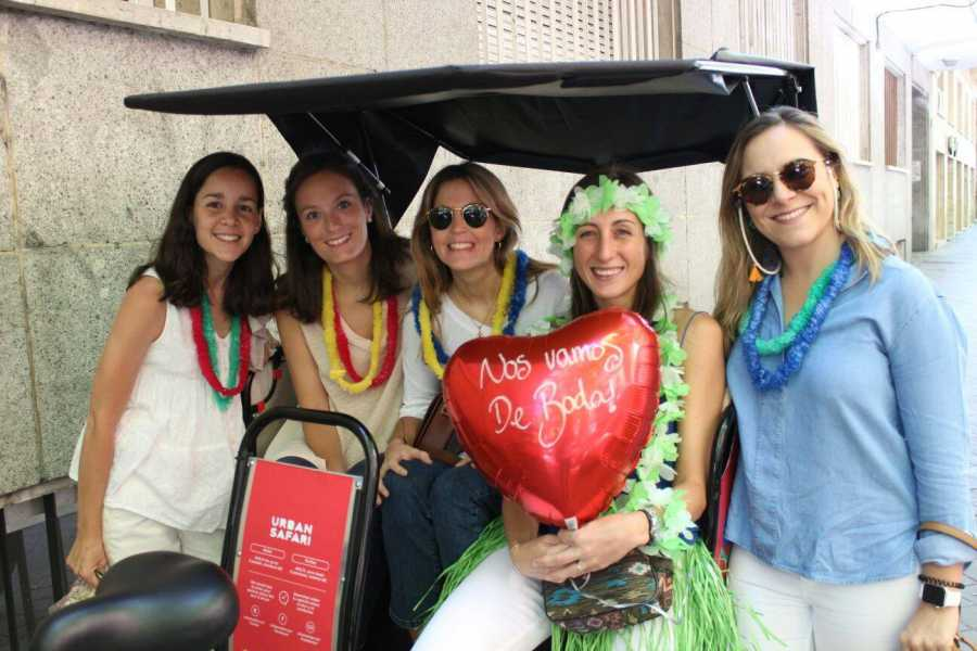 Urban Safari Tours CRAZY PACK DIAMOND: Beer Bike + Barra libre ilimitada + Desfile Bici-Taxis + Gymcana + Chupitos