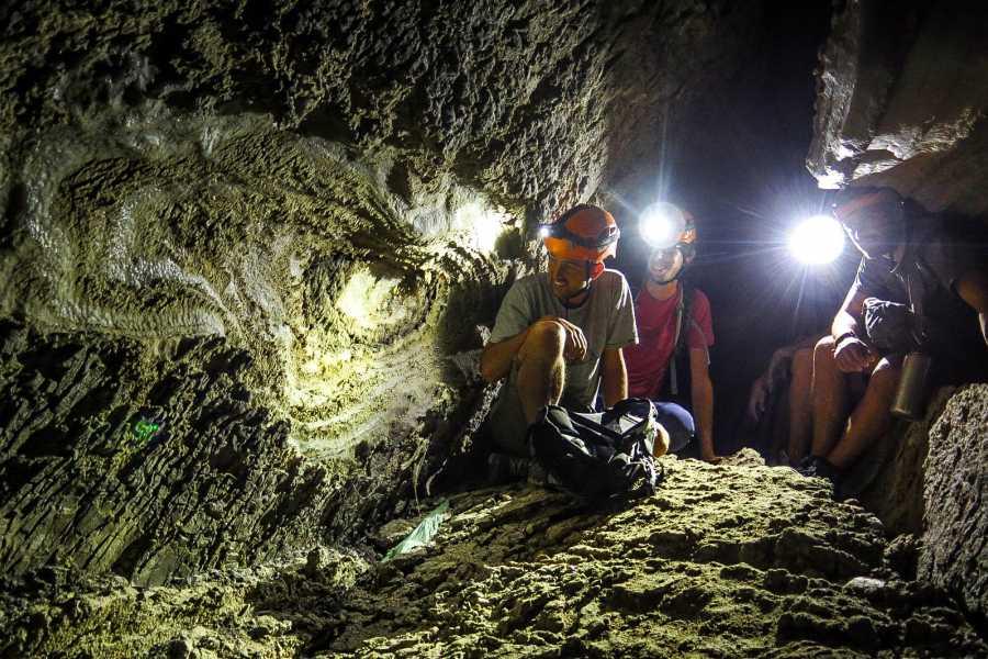 Desert-Pass Salt Cave Rappelling