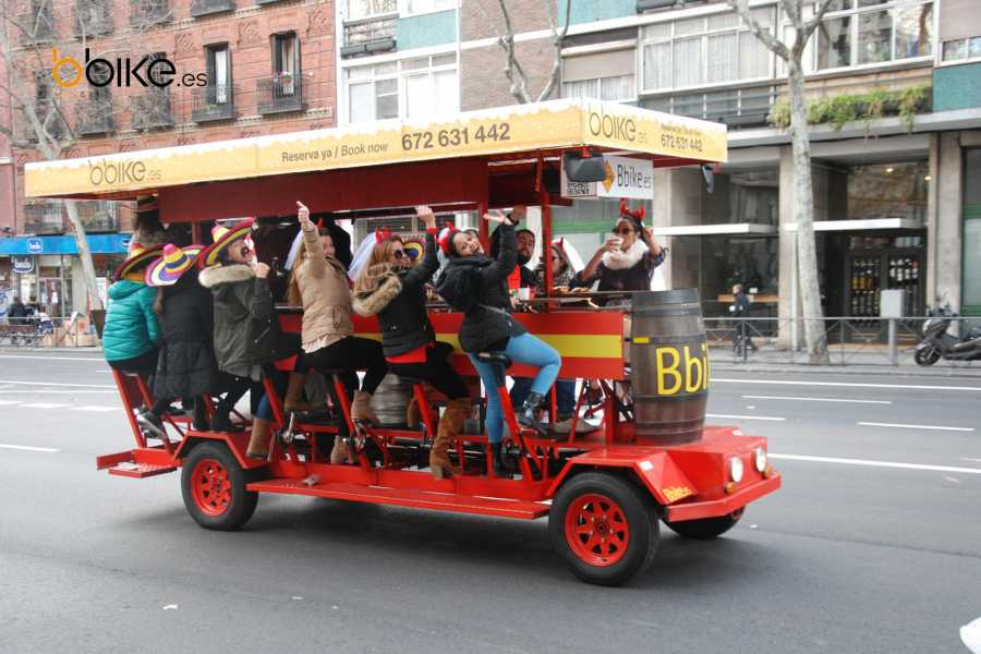 Urban Safari Tours Beer Bike 12-18 people + 1 LITRE beer or sangría.