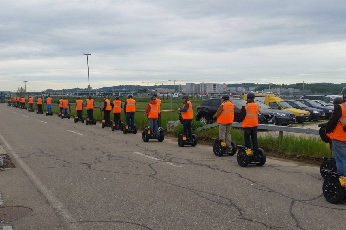 Segway City Tours Zurich Airport Tour with Segways or E-Scooters