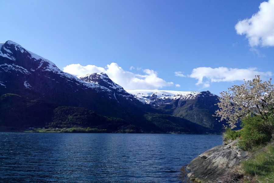 Stana Gard Trolltunga, kayacking, and Glacier-tour.  Stay in farmhouses by Hardangerfjord. 4 days/3 nights