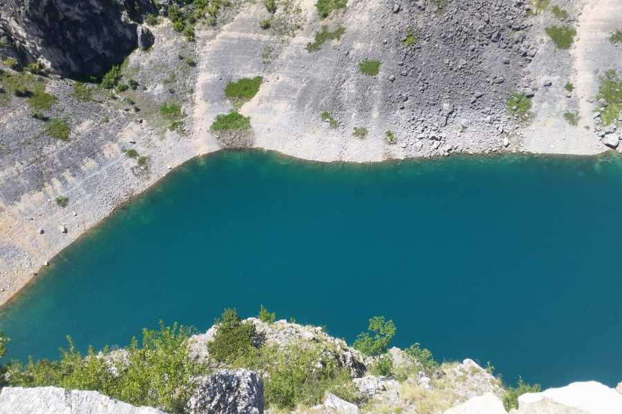 "Travel Agency"" South Tours"" Dalmatian hinterland: Blue & Red Lake in Imotski with Food and Wine tasting"