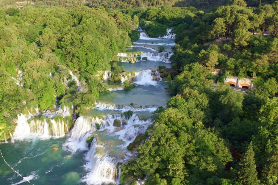 "Travel Agency"" South Tours"" NP Krka Waterfalls On Your Own from Trogir or Spli"