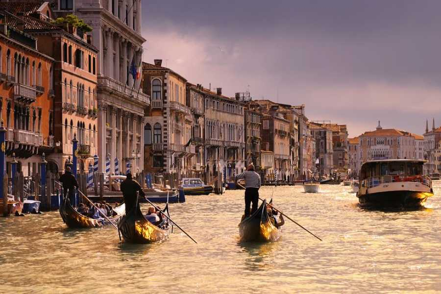 Venice Tours srl Fabulous Venice: Doge Palace + Golden Basilica + Art of Glassblowing + Gondola ride + Panoramic Tour.E