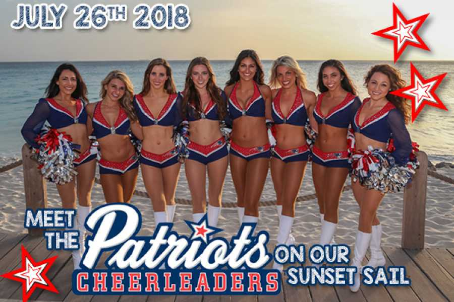Aqua Mania Adventures New England Patriot Cheerleaders Sunset Sail