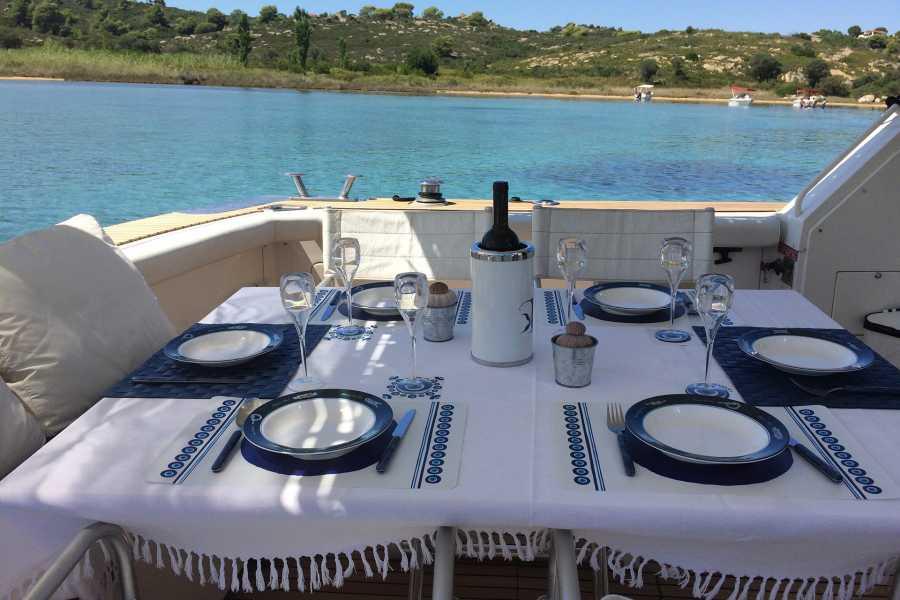 Grekaddict Private Day Cruise from Ormos Panagias to Ammouliani Island