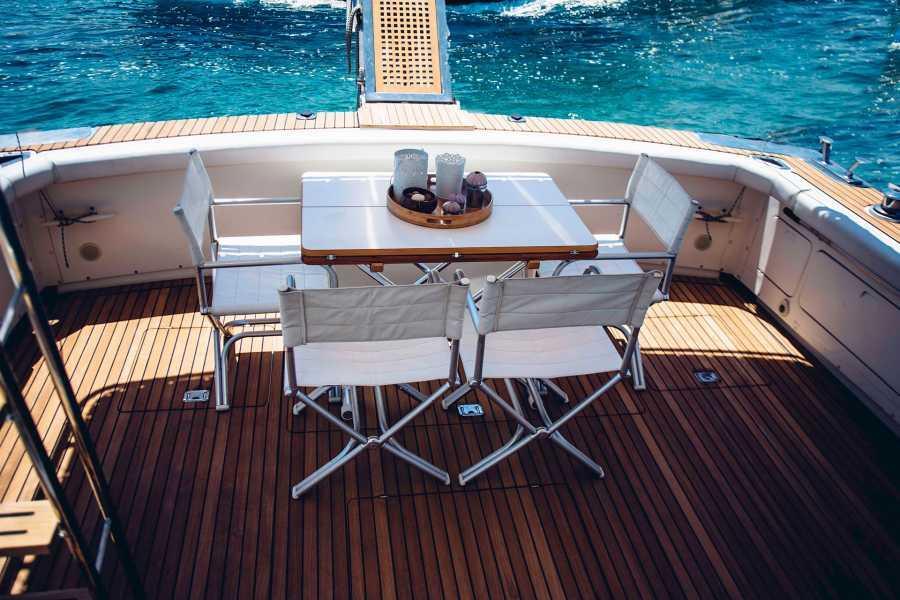 Grekaddict Private Day Cruise from Ormos Panagias to Diaporos Island