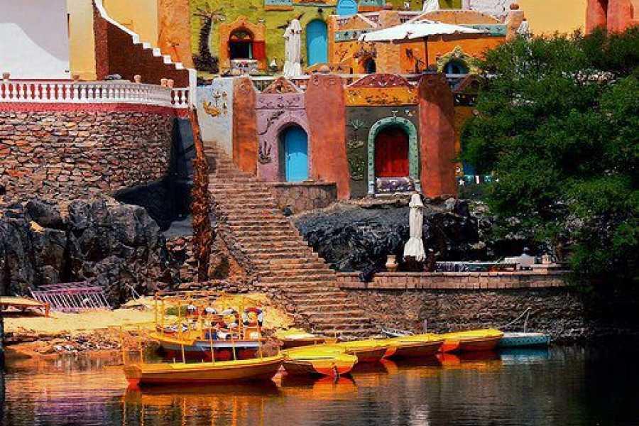 Excursies Egypte Excursion en mer avec felouque et visite du village nubien avec bateau à moteur d'Assouan