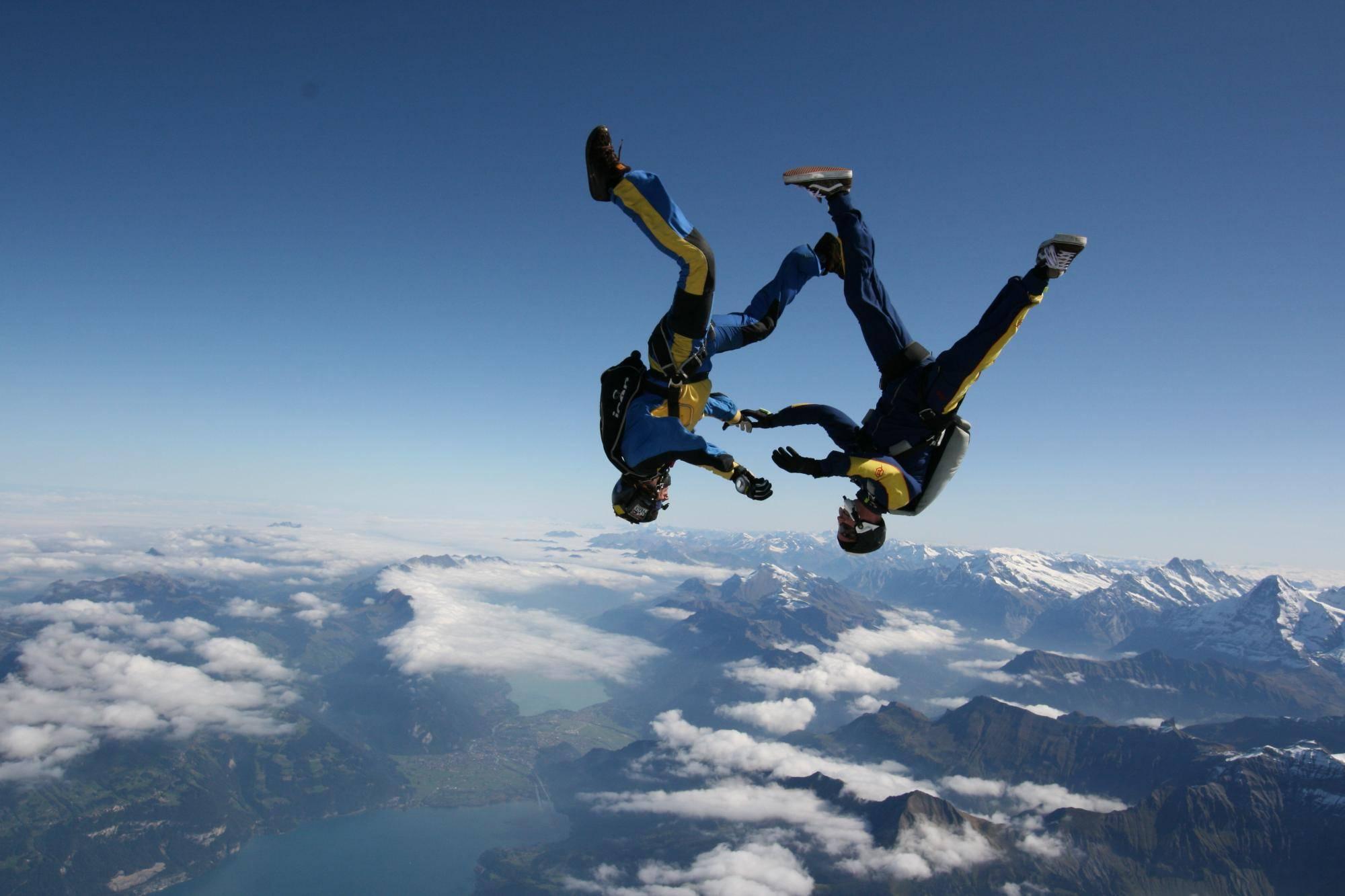 Aff Skydive School Jump The Swiss Alps