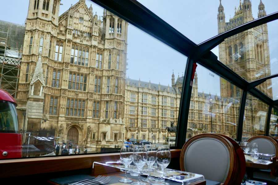 Halal Tourism Britain Panoramic Afternoon Tea experience onboard luxury bus