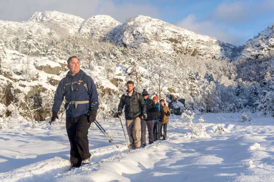 Outdoorlife Norway AS Preikestolen Winter Spring Sunset Hike + Fjord Cruise