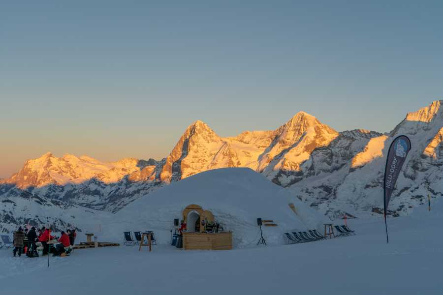 Schilthorn Cableway Ltd. Fondue evening in the igloo-village