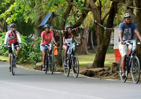 Electro Bike at Le Morne Brabant, Mauritius - A UNESCO Heritage Site