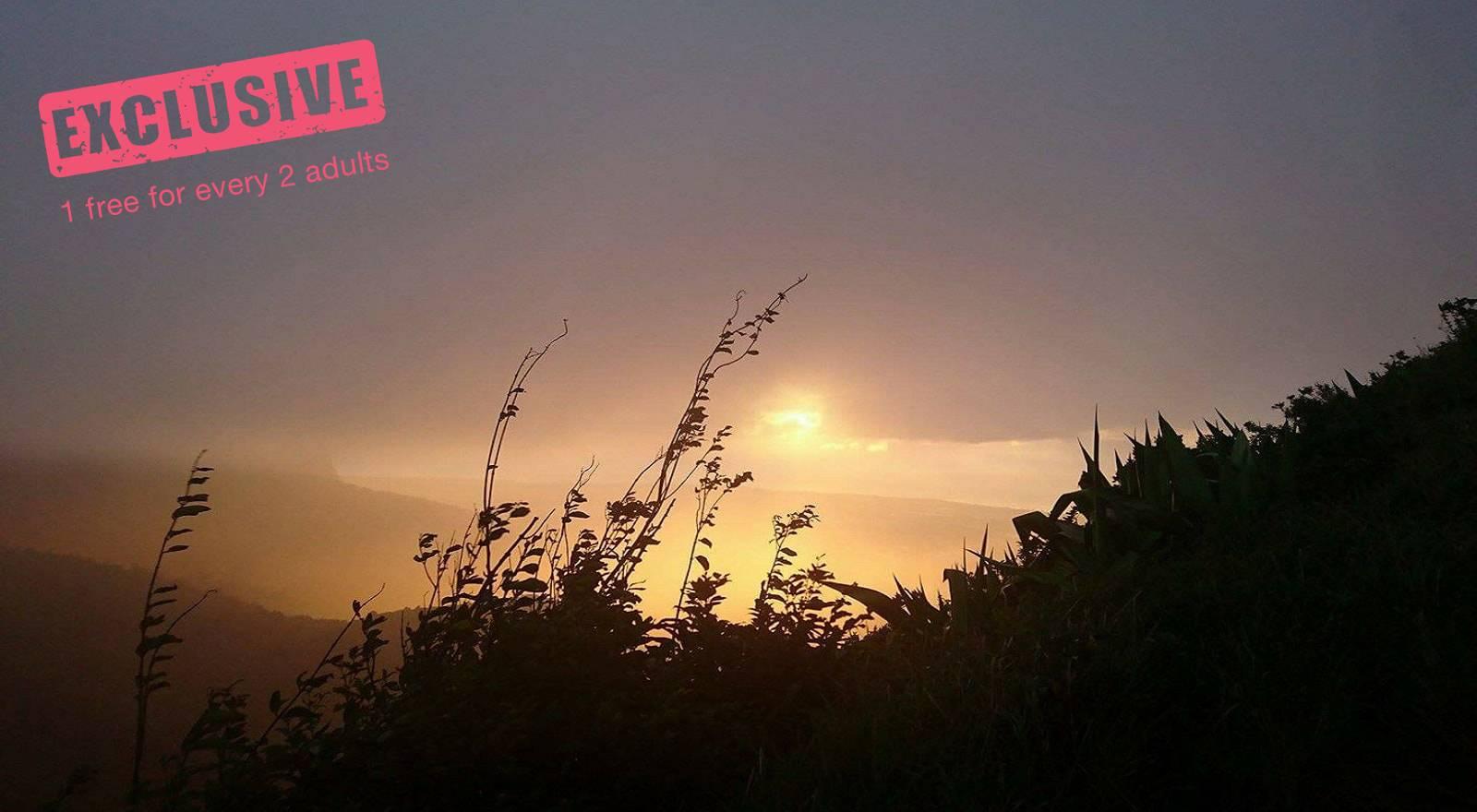 Le Pouce Sonnenuntergangs-Wanderung