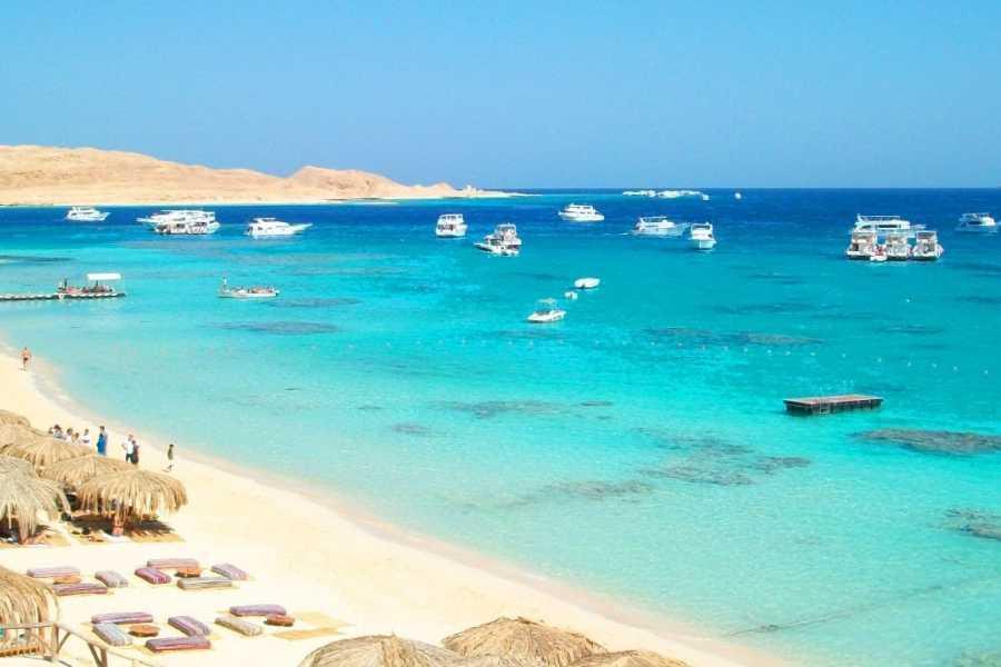 Marsa alam tours Paradise Island Schnorchelausflug von Makadi