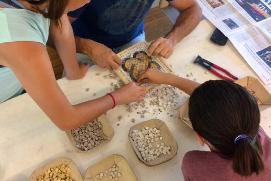 Ravenna Incoming Convention & Visitors Bureau Mosaic workshop for children