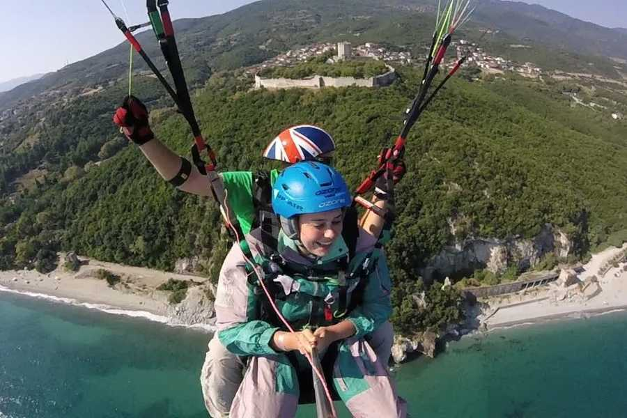 Grekaddict Paragliding Tandem Flight over Mt Olympus