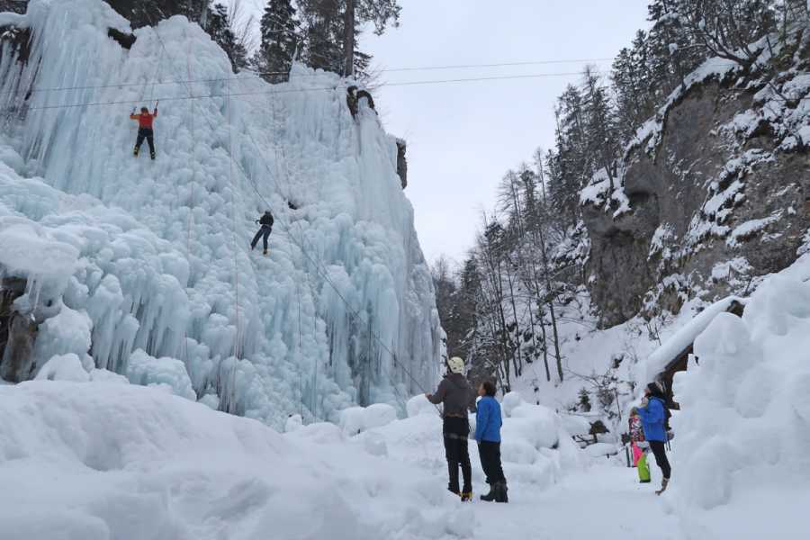 Turistično društvo in Center gorskega vodništva Ice Climbing Day Trip