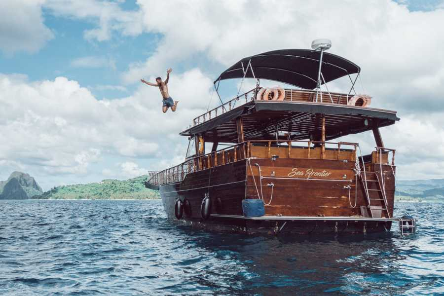 "Philippine Island Cruise Corp Private ""Sea Frontier"" Wooden Boat Charter"