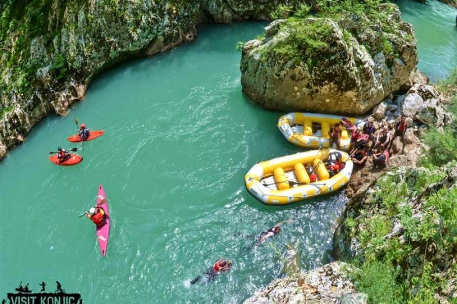 Visit Konjic Rafting tour with BBQ on Neretva river