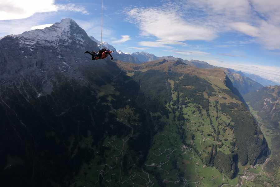 Skydive Interlaken Helicopter Tandem Skydive Eiger
