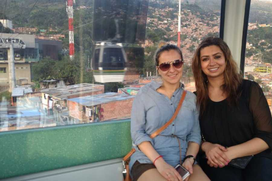 Medellin City Services Combo Tour: Metro System, Christmas Lights and Food Tour of Medellin