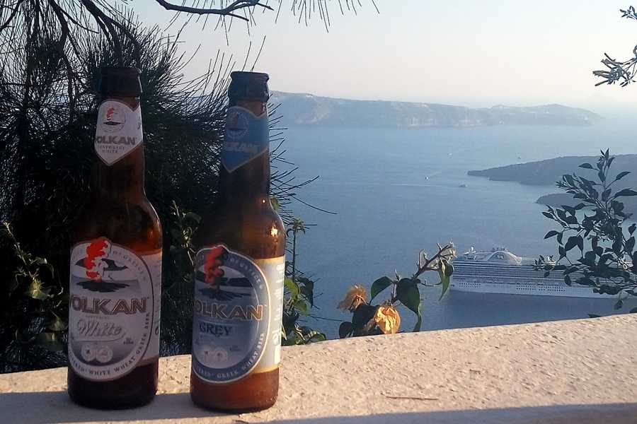 Grekaddict Brewery and Winery Tour in Santorini