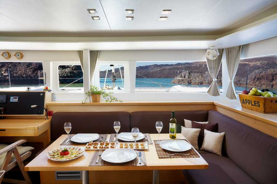 Grekaddict Semi Private Catamaran Cruise in Santorini