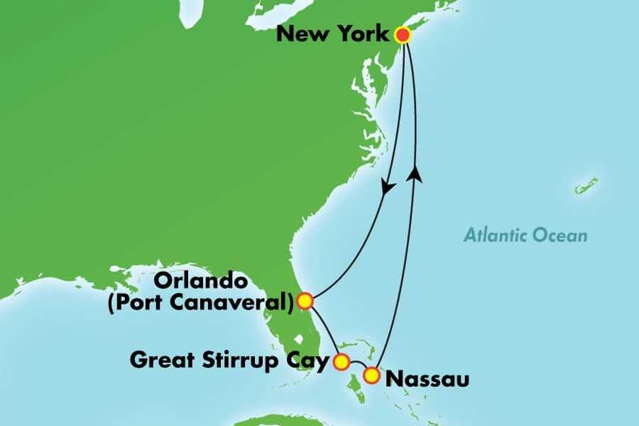 Dream Vacation Tours 10 day *NO FLY* cruise Bahamas & Florida - NCL ENCORE