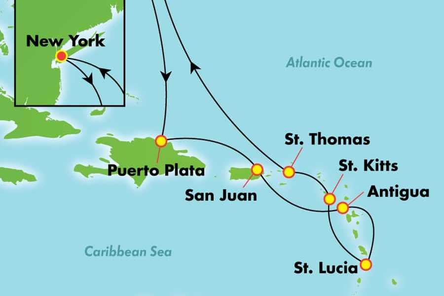 Dream Vacation Tours 14 day *NO FLY* Caribbean cruise - NCL GEM